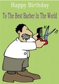 Barber - Greeting Card